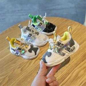 Image 4 - DIMI 2019 Outono Infantil Menina Menino Respirável Sapatos Sneakers Moda de Correspondência de Cores Suaves Criança Inferior Do Bebê Sapatos Caminhantes