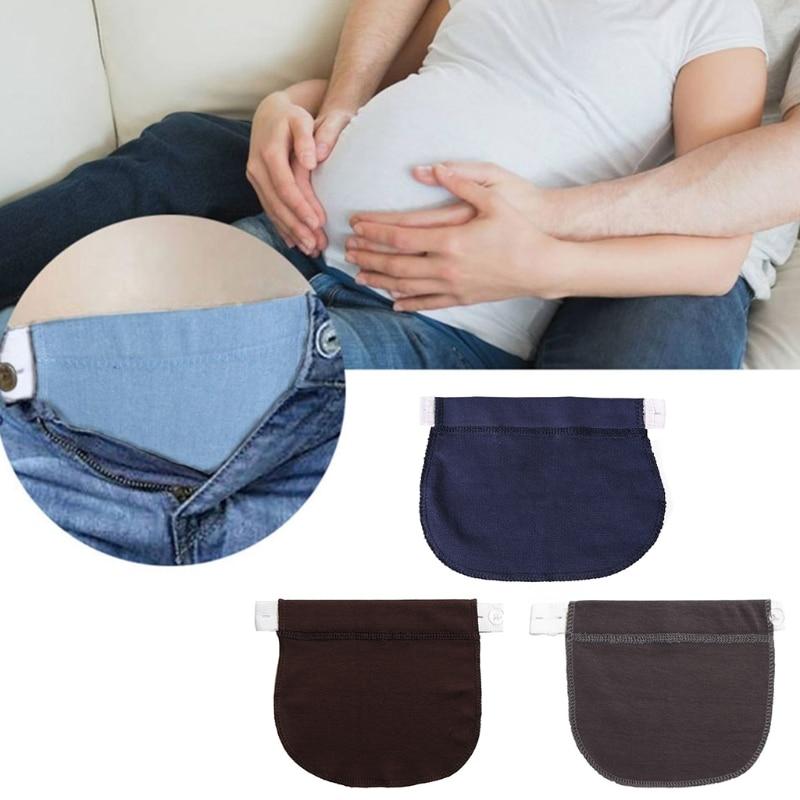 Women Maternity Pregnancy Waistband Belt Adjustable Elastic Waist Pants Extender L41B