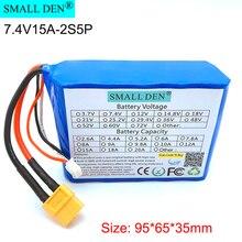 7.4V/8.4V 15A 18650 akumulator litowy 2S5P XT60 używany do dronów, modelowanie lotnicze, zabawki elektryczne, wysoki prąd wyjściowy baterie