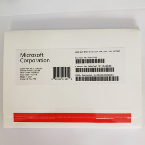 Microsoft Windows Server Standard 2019 License X64 EN 1PK DSP DVD 16CORE OEM Software Win SVR STD 19 Product Key