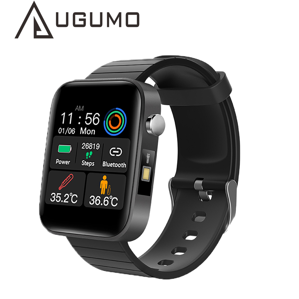 UGUMO T68 T98 Smart Watch with Body Temperature Measure Heart Rate Blood Pressure Oxygen Monitor Smart Wristband Sport Watches