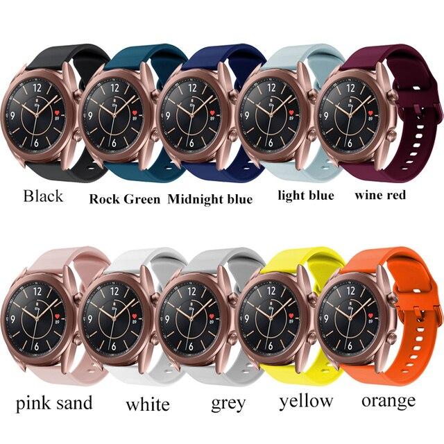 Купить ремешок силиконовый для samsung galaxy watch 3 41 мм 45 спортивный картинки цена