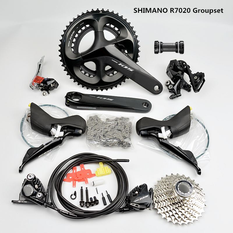<font><b>SHIMANO</b></font> R7020 Groupset <font><b>105</b></font> R7020 Hydraulic Disc Brake Derailleurs ROAD Bicycle R7020 R7070 R7000 shifter FC 52-36T 50-34T image