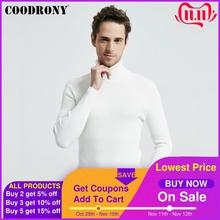 COODRONY Christmas Sweater Men Clothes 2020 Winter Thick Warm Casual Knitwear Turtleneck Pullover Classic Pure Color Jumper 8253