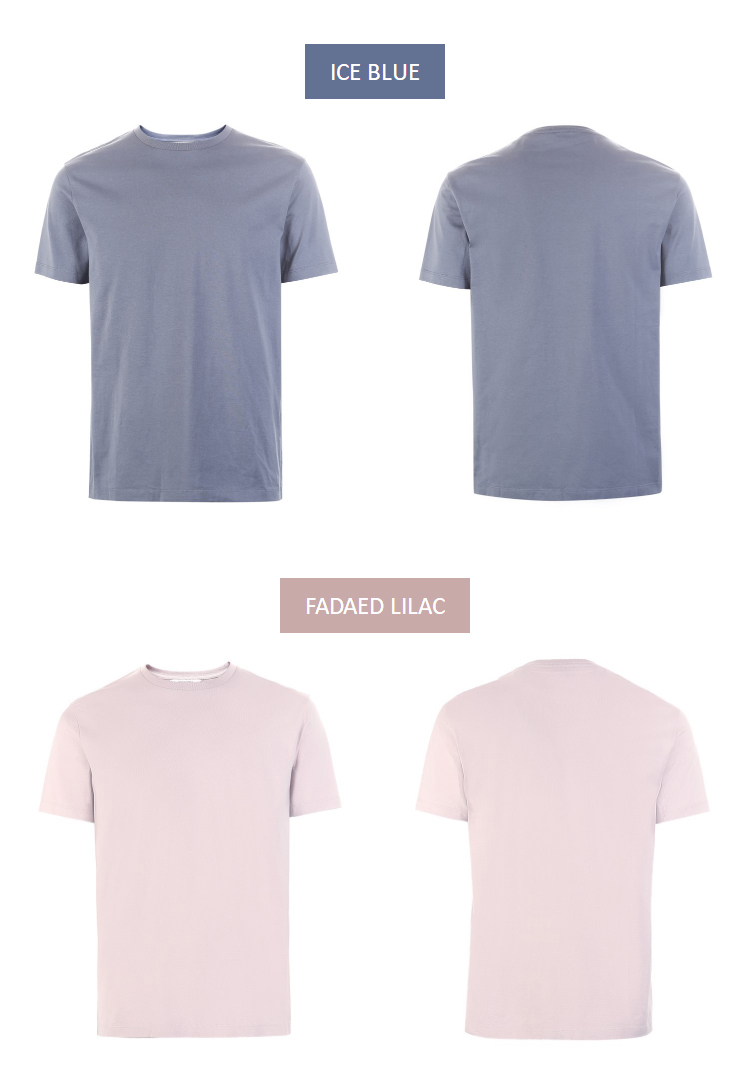 Men's Cotton T-shirt Solid Color Men's Top Fashion t shirt Brand New Menswear 44