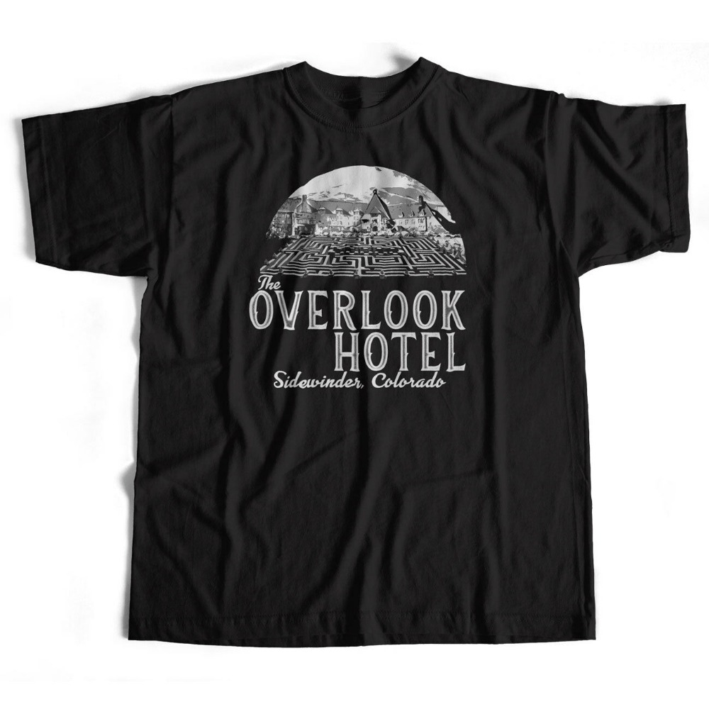 Inspired By The Shining T Shirt - Overlook Hotel Logo Cult Movie Kubrick Horroron New Fashion Summer Print Men Biker T Shirts image