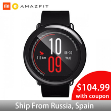 Huami Amazfit PACE GPS Running Smartwatch Fitness Tracker 5 Days Battery Life Heart Rate Sleep Monitoring Music Play Smart Watch [english version] new original huami amazfit pace sport smart watch smartwatch bluetooth wifi 1 2ghz 512mb 4gb gps heart rate