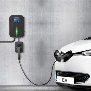 Image 5 - 16A 3 المرحلة شاحن سيارات كهربائية مركبة كهربية شحن محطة EVSE جدار نوع 2 المقبس IEC 62196 2 لأودي مرسيدس بنز ، هيونداي