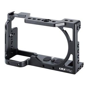 Image 3 - UURig C A6400 מתכת מצלמה Rig כלוב עבור Sony Alpha A6400 יד אחיזת מצלמה Rig DSLR מצלמה אבזרים
