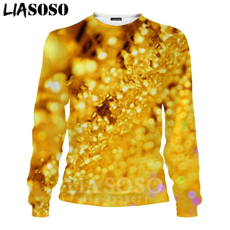 LIASOSO 3D Print Gold Sweatshirt Autumn Long Sleeve Glow Diamond Men`s Shirt Anime Women Fashion Tops O Neck Men Clothing D017-7 (14)