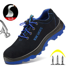 Yuxiang Men's Steel Toe Safety Work Shoes Anti-smashing Construction Winter Boots