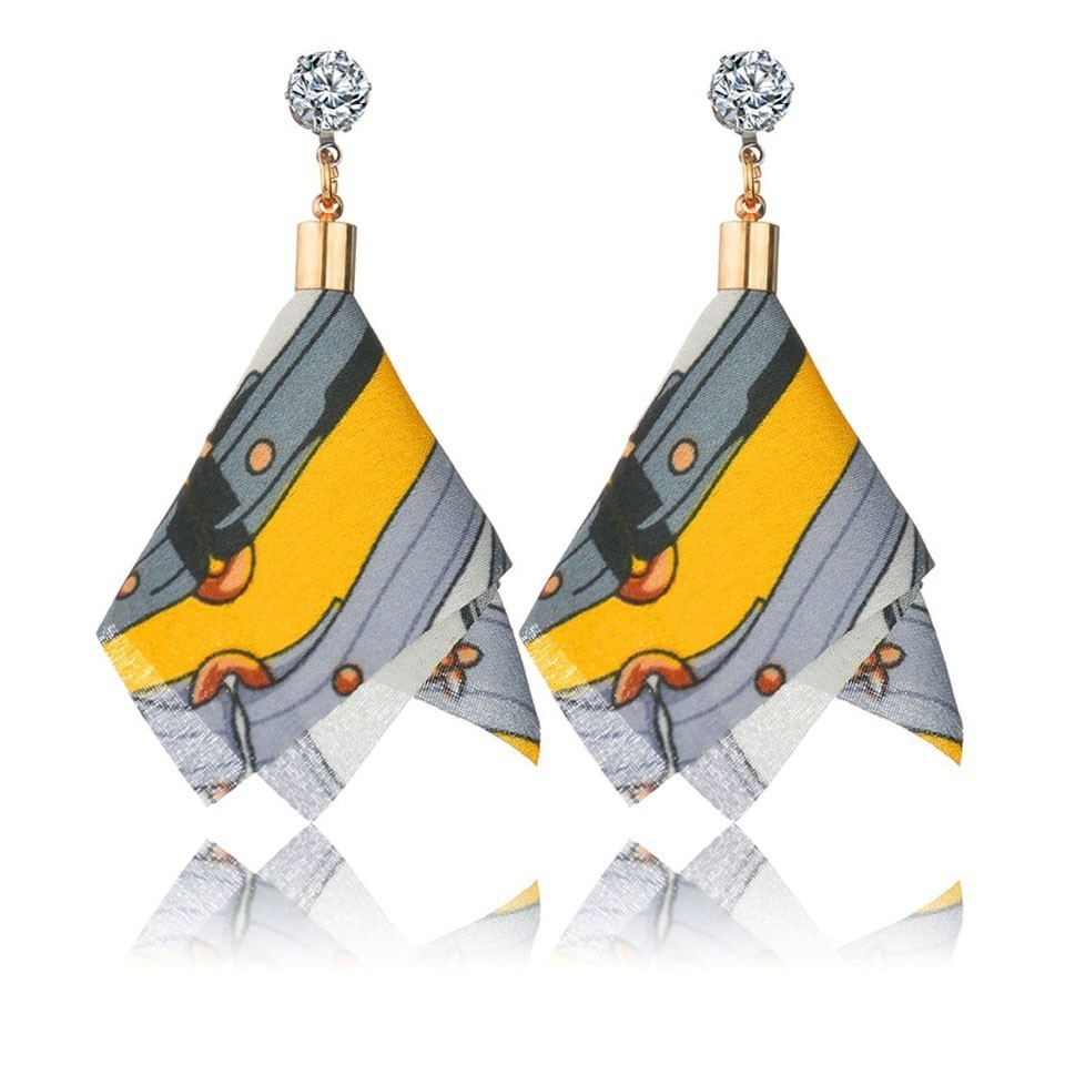 Ha60bbfb80a6249cb8ff66c0e07659daeX - Bohemian Heart Tassel Long Drop Earrings BOHO Pink Blue Silk Fabric Design Dangle Earrings For Women Jewelry Gift Christmas