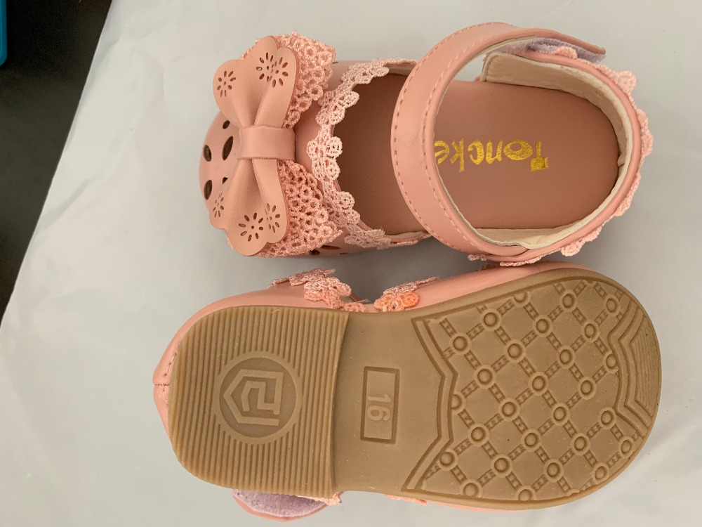 Ha60bd416e90542429b0a9277dc787bb7C - Newest Summer Kids Shoes Fashion Leathers Sweet Children Sandals For Girls Toddler Baby Breathable Hoolow Out Bow Shoes
