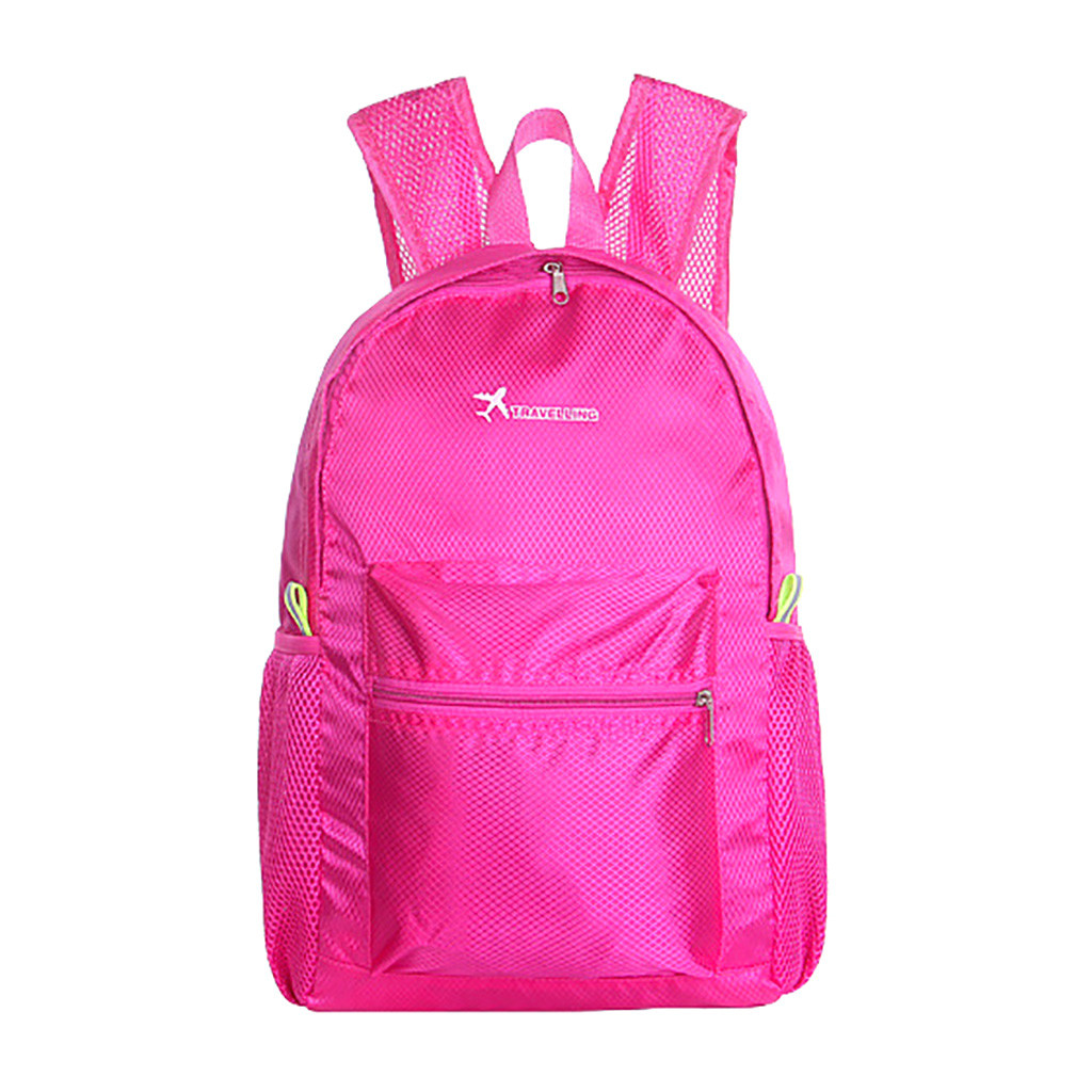 Men Women Unisex Waterproof Backpack Wear Light Sports Outdoor Backpack School Bag Light Simple Fold Backpacks 2019 New #F