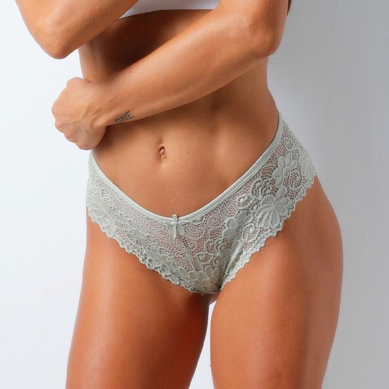 1PC Low Rise Knickers Sexy Hollow Briefs Ultra Thin Underwear Women