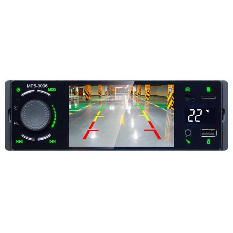 1Din วิทยุรถยนต์ 4.1 นิ้วหน้าจอสเตอริโอมัลติมีเดีย Mp5 เครื่องเล่นบลูทูธ Am/Fm/Rds วิทยุ