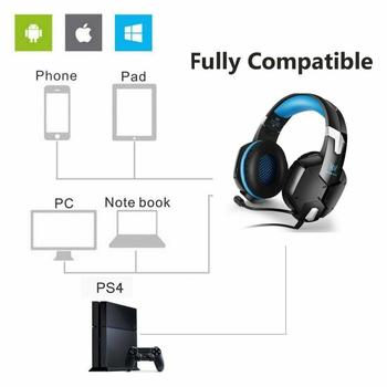 G1200 Gaming Headset Gaming Quality Stereo Surround Sound With Microphone For PC PS4 XBOX 3.5 Mm Headphone Jack 6