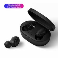 TWS Bluetooth kulaklık Redmi için Airdots hava nokta kablosuz kulaklık Stereo kulaklık Mini kulakiçi Xiaomi Huawei Samsung için A6s