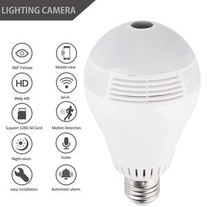 360 Degree LED Ligh 1080P WIFI IP Camera Security Baby Video Monitor Mini Wireless Lamp Camera Bulb HD Network Remote Monitor