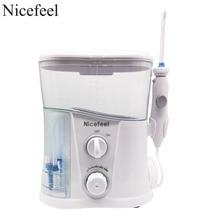 Nicefeel Monddouche & Dental Water Flosser Met 1000Ml Water Tank + 7 Tips Met Verstelbare Druk Water Pick
