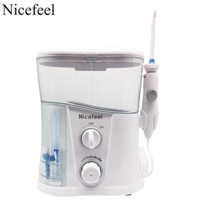 Image 1 - Nicefeel Oral Irrigator & Dental Water Flosser with 1000ml Water Tank + 7 Tips with Adjustable Pressure Water Pick