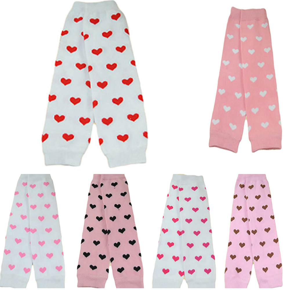 Baby Girl Toddler Hearts Print Arm Leg Warmers Warm Cotton Adorable Socks Tights WATXW0502