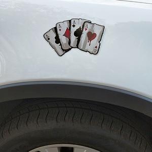 Image 3 - YJZT 15,2 CM * 9,8 CM Cartoon Spielkarten EINE Aufkleber PVC Motorrad Auto Aufkleber 11 00780