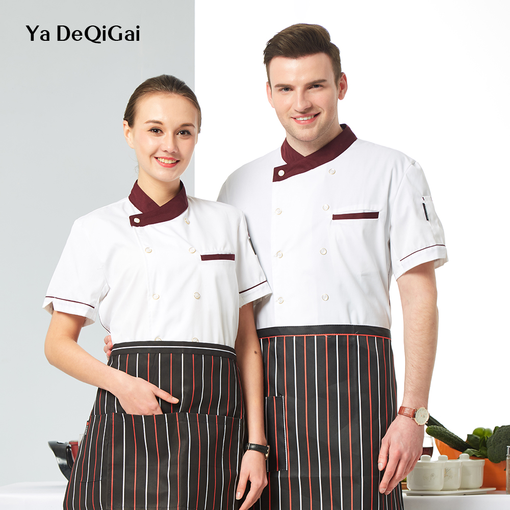 Hot Pot Shop Short Sleeve Wholesale Chef Shirts Machining Bakery Chef Restaurant Uniform Housewife Sushi Cooking Hotel Uniform