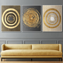 Golden Geometric Art Canvas Painting Wall Art Nordic Poster And Print Wall Pictures For Living Room Decoration Modern Home Decor nordic canvas painting abstract living room golden art wall pictures print bedroom dinning room home decor unframed poster art