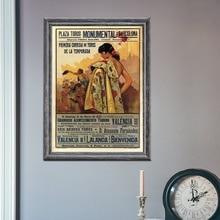 Bullfight Vintage Ad España 1935 Corrida decoración pared película pintura decoración póster de impresiones de lienzo pinturas al óleo sin marco