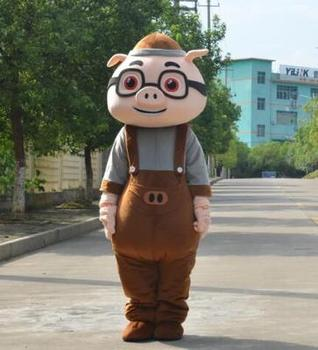 GG Bond Pig Mascot Costume Suit Halloween Party Game Dress Outfit Adult Cosplay Mascot