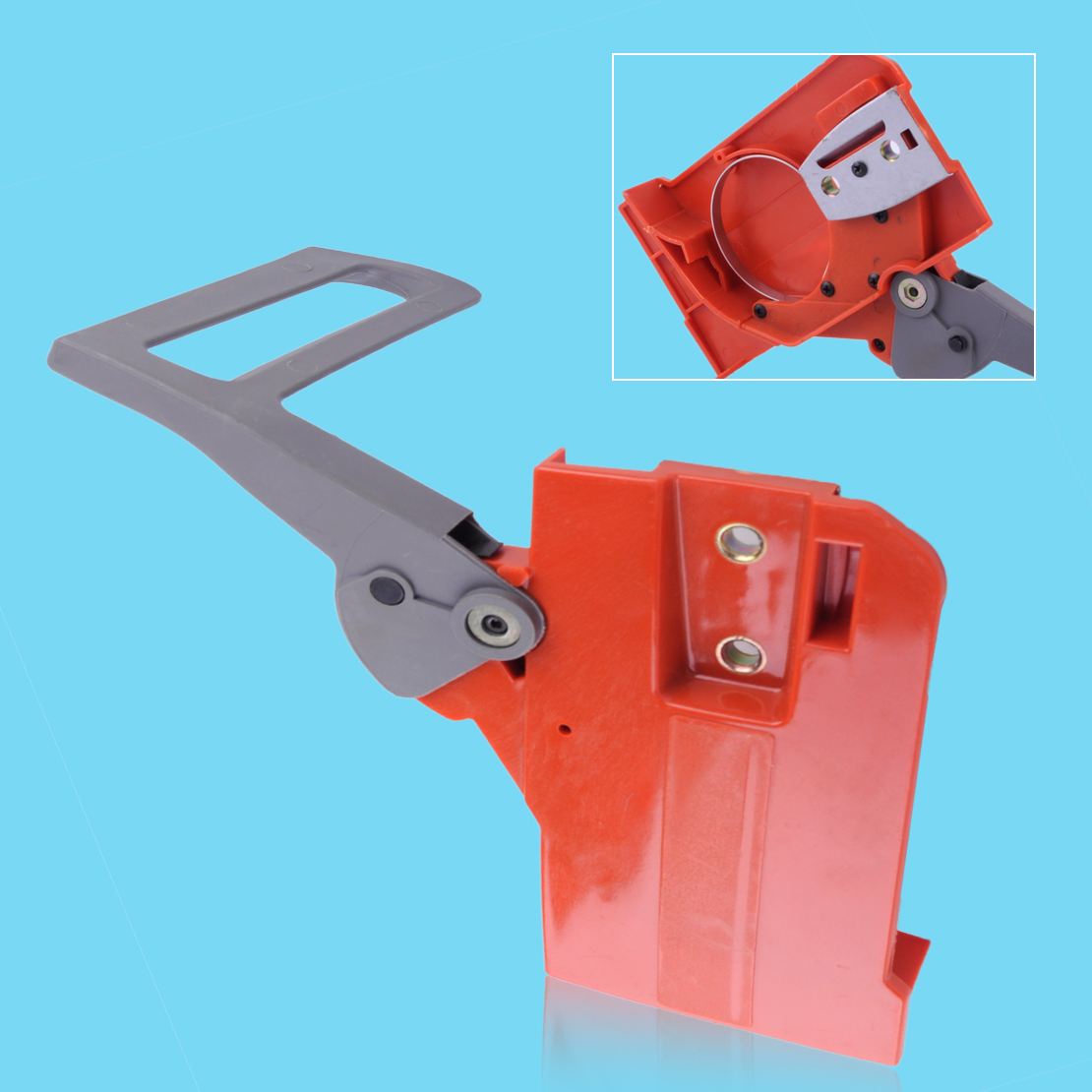 LETAOSK Plastic Chain Brake Side Cover Assembly Fit for Husqvarna 50 51 55 Chainsaws Accessories