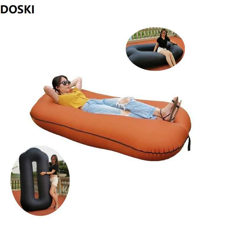 Air Sleeping Bag Lazy Chair Lounge Sofa Bed Inflatable