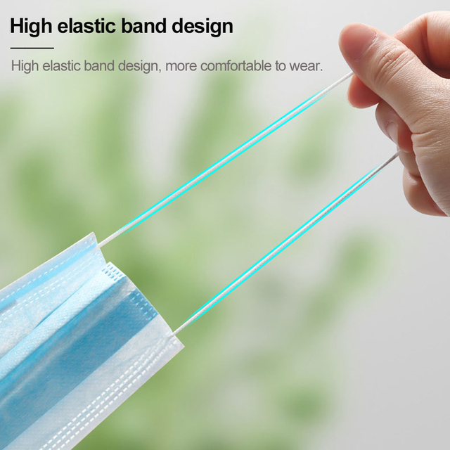 100 Pcs 3 Layer Disposable Mask Non-woven Mascarillas Dust Face Mask Thickened Disposable Mouth Mask Dust Filter Safety mascaras 3