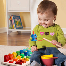 Children Kids Fishing Toy Little Fish /Numbers /Doughnuts Set Suit Magnetic Baby Hot Gift For J75