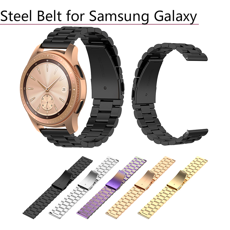 Permalink to Watchband for Samsung Galaxy Watch for Huami Amazfit BIP GTR Stainless Steel Belt for Samsung Active R500 for Garmin Vivoactive3