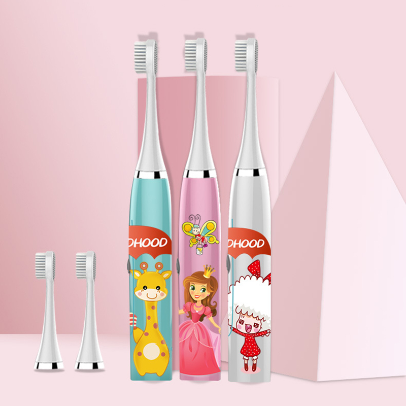 new Children Electric Teeth Brush Cartoon Pattern Acoustic Wave Electric Toothbrush Kids Home Cute Soft Hair Waterproof 30 image