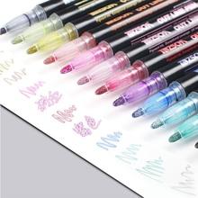 Brush-Pens Marker Highlighter-Pen Watercolor-Fluorescent-Pen Drawing School Students