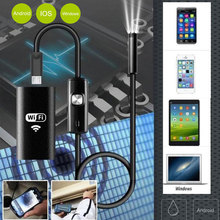 Black 8MM Mobile Phones Photos Endoscope Ear Spoon Borescope Practical Computers Inspection Real-Time Video Monitoring Portable купить дешево онлайн