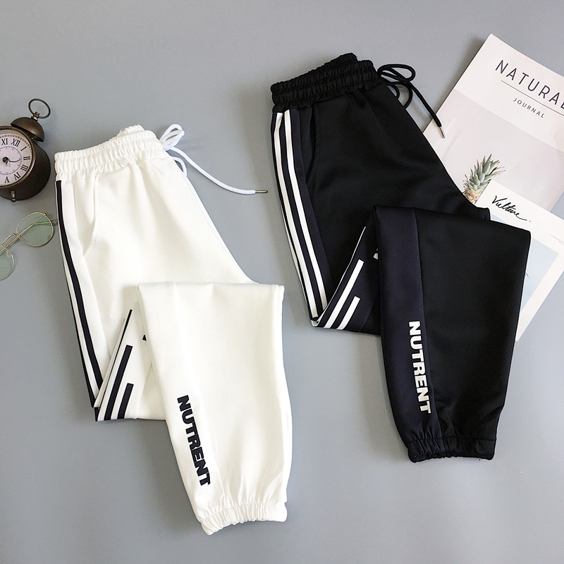 Spring Sport Cargo Pants Plus Size 2XL Letter Embroidery Pants Women High Waist Streetwear Cool Girl Harajuku Hip Hop Pants