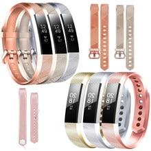 Baaletc pulseira de pulso para fitbit alta hr rosa ouro silicone pulseira para fitbit alta/fitbit alta hr pulseira inteligente correa