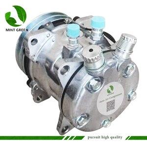 Image 3 - Sanden 505 SD505 5h14 Auto AC Compressor for Tractor Excavator Heavy Duty Truck 12V / 24V 2 Groove V Blet Pulley
