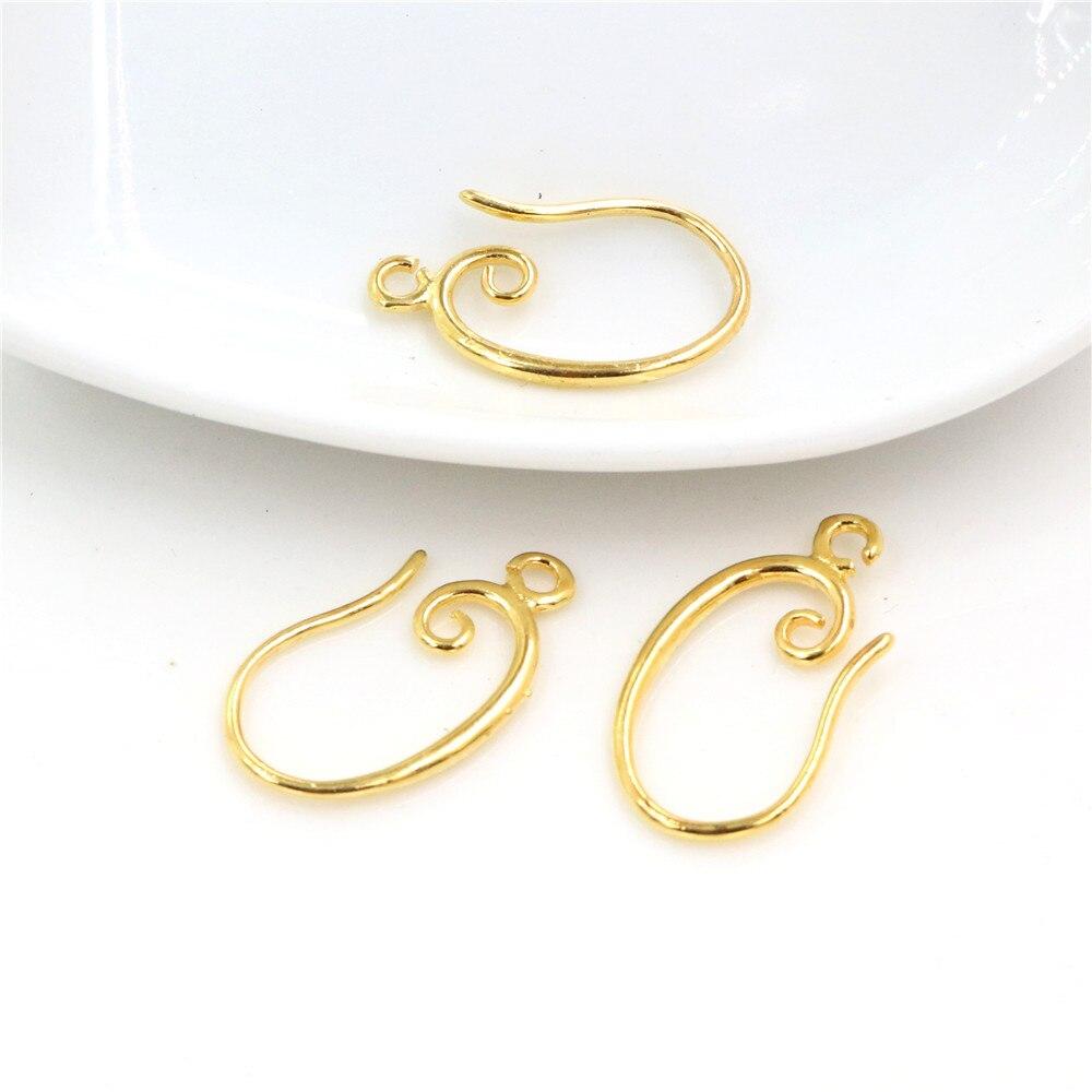 10pcs ( 5pair) 19x11mm Gold Color Popular Ear Hooks Earring Wires For Handmade Women Fashion Jewelry Earrings-L2-47