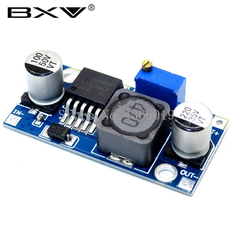Regulador de voltaje 3A lm2596 LM2596S DC-DC 3-40V módulo de fuente de alimentación reductor ajustable