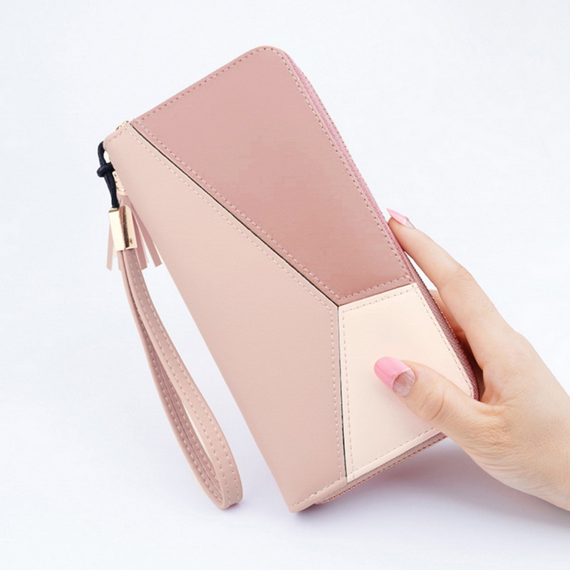 2020 New Women Long PU Leather Purse Women Wallets Zipper Clutch Coin Purse Lady Wallets Money Bag Porte Feuille Femme