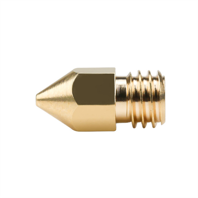 5Pcs 3D Printer Brass Copper Nozzle Mixed Sizes 0.2/0.3/0.4/0.5 Extruder Print Head For 1.75MM MK8 Makerbot 2