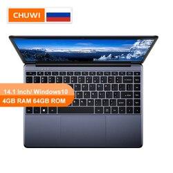 CHUWI Оригинальный HeroBook 14,1 дюймов ноутбук с системой Windows 10 Intel E8000 4 ядра 4 Гб RAM 64 Гб ROM ноутбук