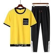 Комплект спортивной одежды для бега мужской футболка с коротким