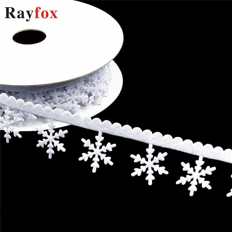 Украшения для рождественской елки 1 шт. 2 5 метров снежинка/звезда цепь ленты ткань