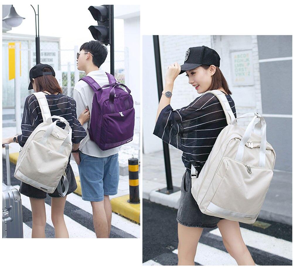 viagem mochilas mulheres de grande capacidade curta